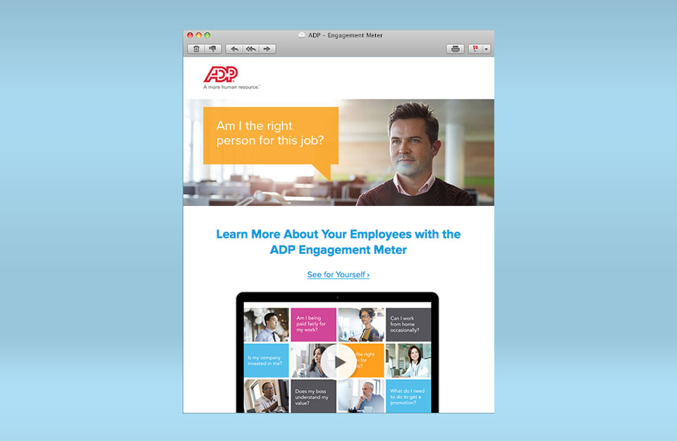 ADP Engagement Meter Email