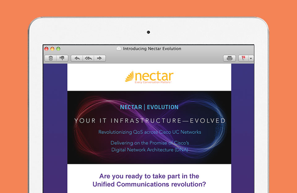 Nectar Email on Tablet