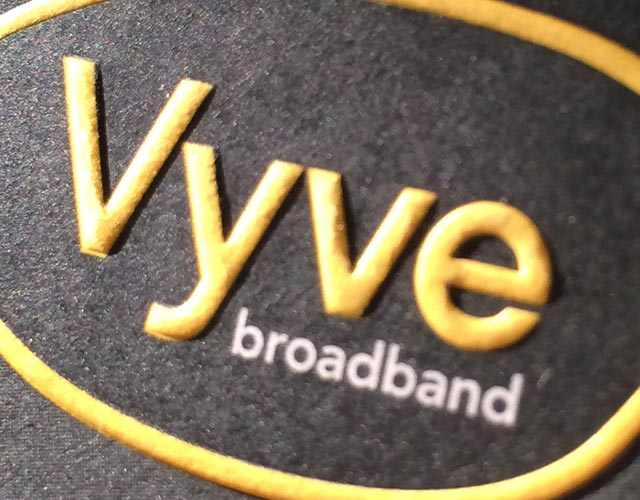 Vyve Broadband Business Card Embossing